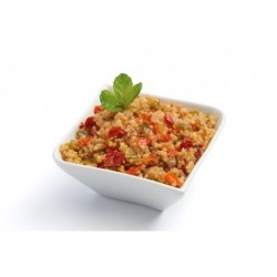 Quinoa tabbouleh with diced vegetables