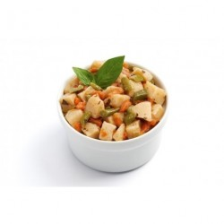 French bean and potato salad