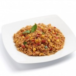 Quinoa and diced vegetables